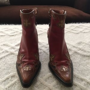 Donald J Pliner Western Collections Ankle Boots
